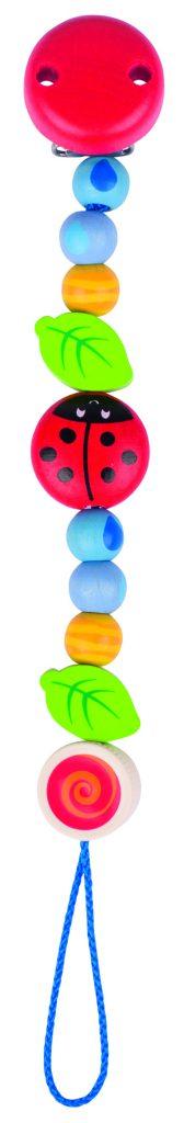 Welche Schnullerketten brauchen CE - diese ja, weil sie aus verschiedenen bunten Perlen verschiedener Größen und Formen besteht.