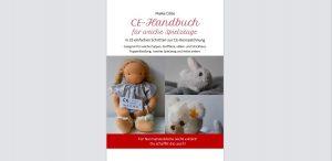 Titelbild des CE-Handbuchs für weiche Spielzeuge, mit Fotos von Puppe und Stofftieren mit CE-Labels